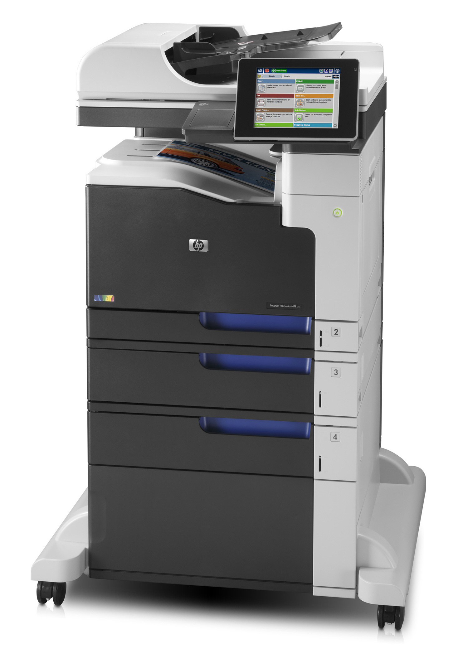 Multifunctionala Color HP LaserJet Enterprise 700 MFP M775, A3, Duplex, 30 PPM, 600 x 600, USB, RJ-45, Cartuse noi