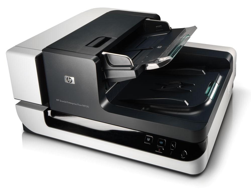 scanner second hand hp scanjet enterprise flow n9120 flatbed, adf, usb, retea (l2683b)
