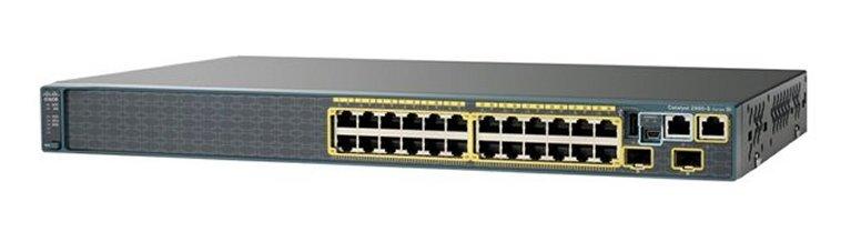 Switch Cisco WS-2960-24LC-S, 24 porturi Rj-45 10/100, 8 POE Ports