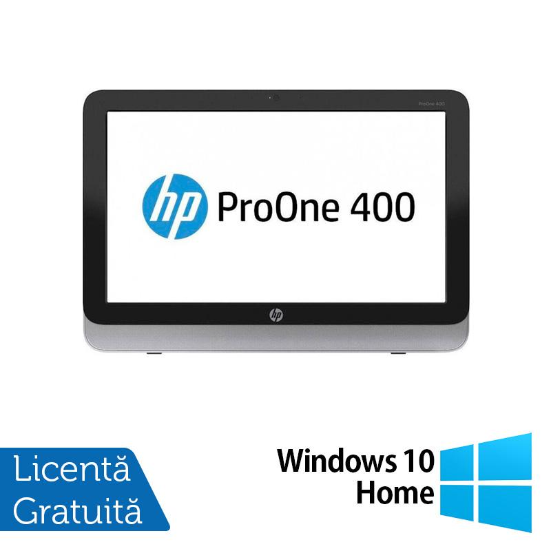 All In One HP Pro One 400 G1, 19.5 Inch 1600 x 900, Intel Core i3-4130T 2.90GHz, 8GB DDR3, 120GB SSD, DVD-RW + Windows 10 Home