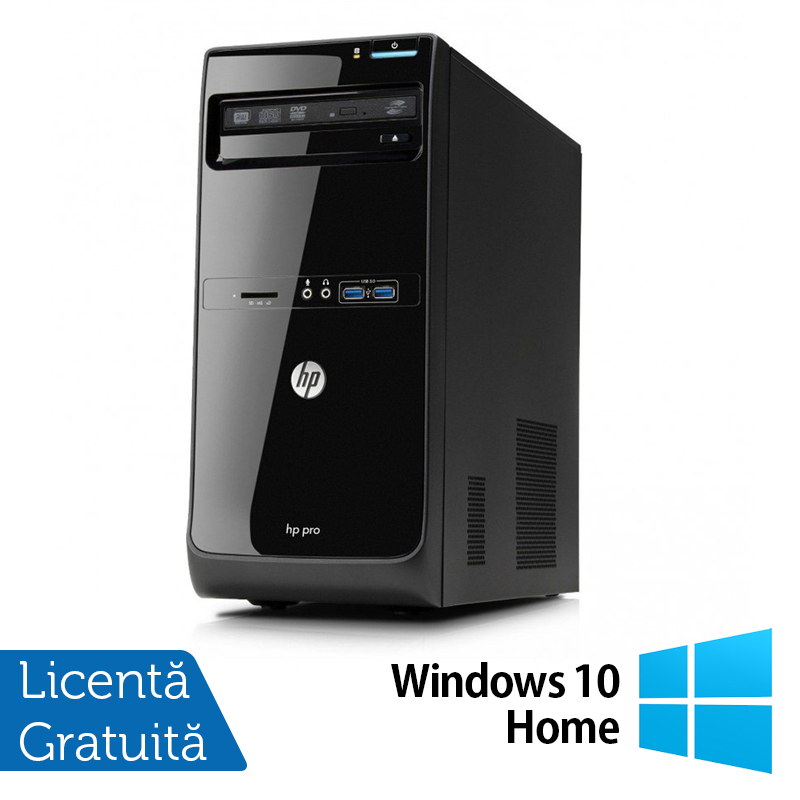 Calculator Hp Pro 3400 Tower, Intel Core I3-2120 3.30ghz, 4gb Ddr3, 500gb Sata, Dvd-rw + Windows 10 Home