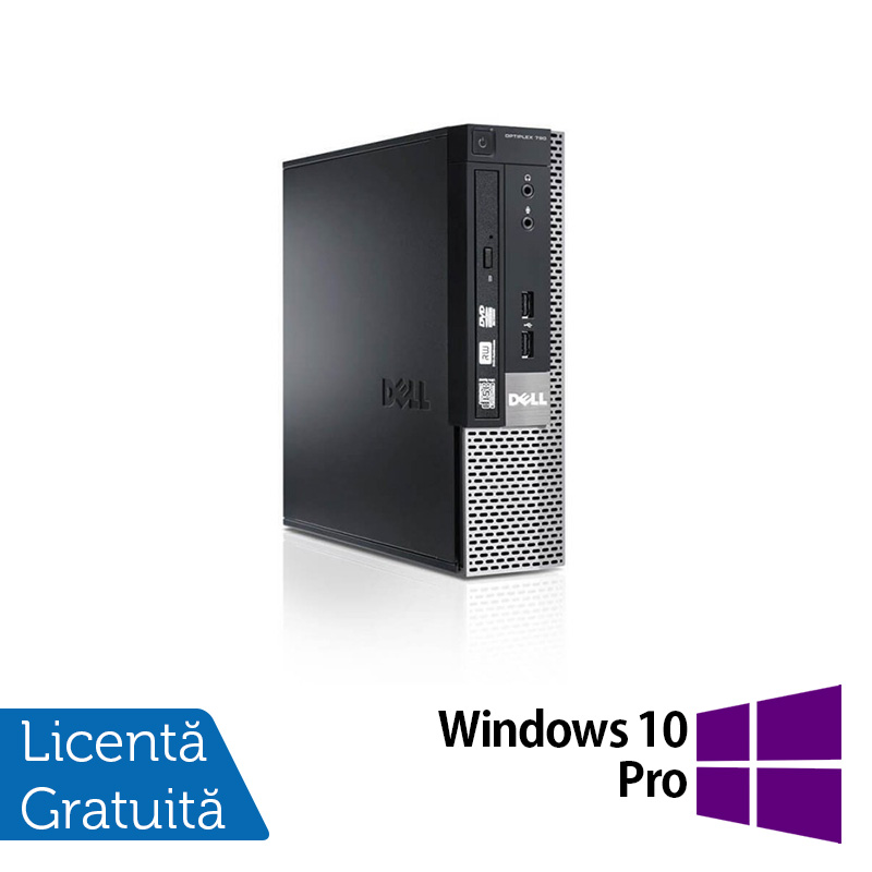 Dell OptiPlex 790 USFF, Intel Core i3-2100 3.10GHz, 4GB DDR3, 250GB SATA + Windows 10 Pro