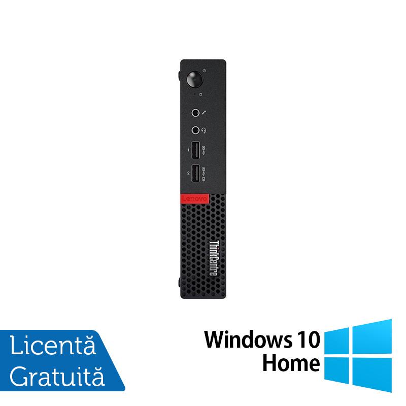 Calculator Lenovo Mini PC M910, Intel Core i5-7500T 2.70GHz, 4GB DDR4, 120GB SSD + Windows 10 Home