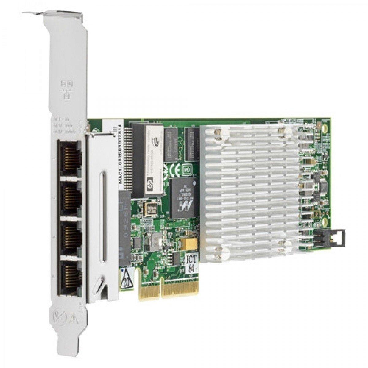 placa de retea hp intel quad port pci-e full height gigabit nc375t pci-e x4