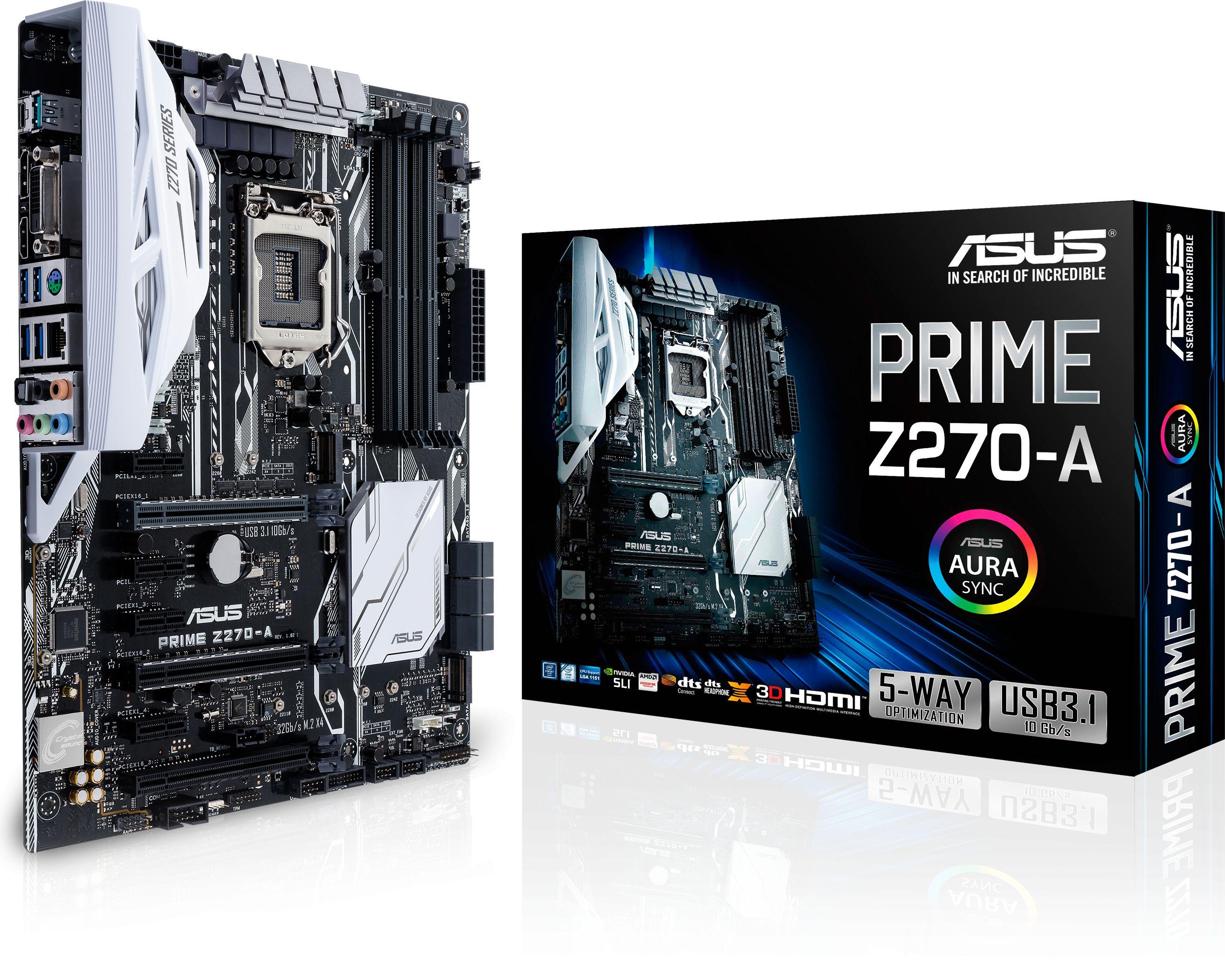 Placa de baza ASUS PRIME Z270-A, Socket 1151, ATX, 4xDDR4, HDMI, DisplayPort, DVI