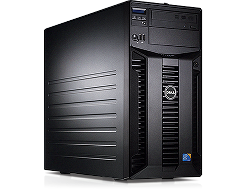 Server Dell PowerEdge T310 Tower, Intel Core i3-530 2.93GHz, 4GB DDR3-ECC, Hard Disk 250GB SATA, Raid Perc H200, Idrac 6 Enterprise, 2 PSU Hot Swap
