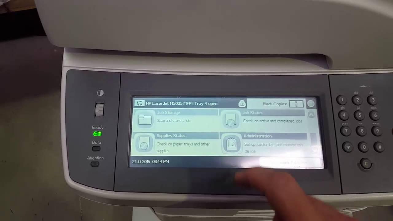 Display HP LaserJet M5035