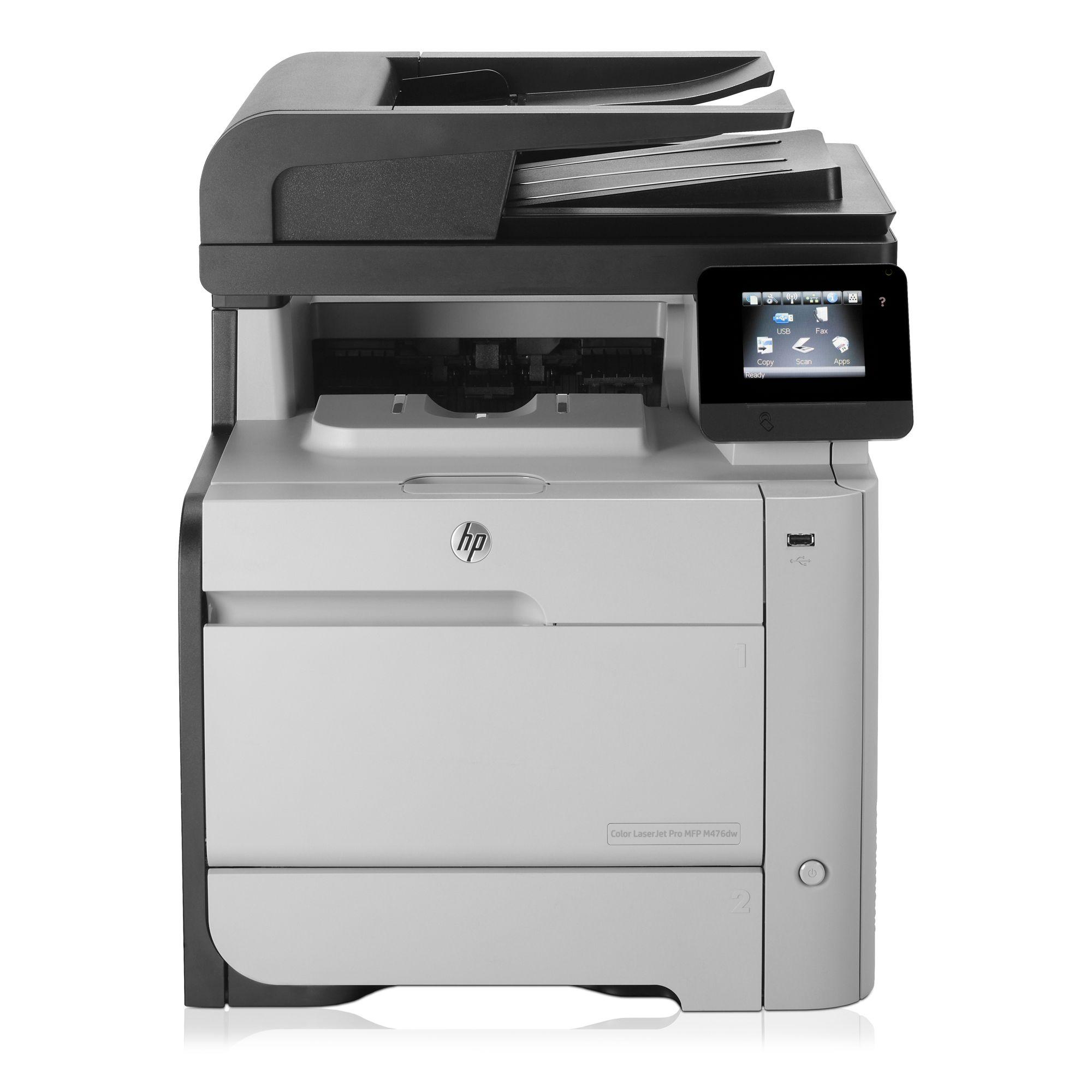 Multifunctionala Second Hand HP Color LaserJet Pro MFP M476dw, Wireless, A4, 600 x 600, Duplex, Retea, USB, 20 ppm