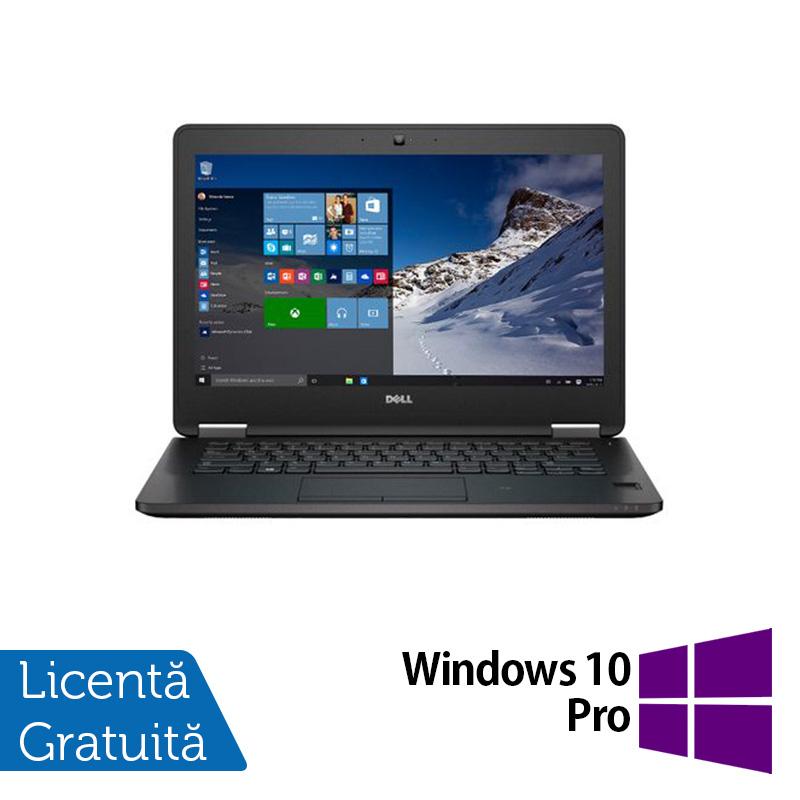 Laptop DELL Latitude E7270, Intel Core i5-6300U 2.30GHz, 8GB DDR4, 256GB SSD M.2 SATA, 12.5 Inch Full HD, Webcam + Windows 10 Pro