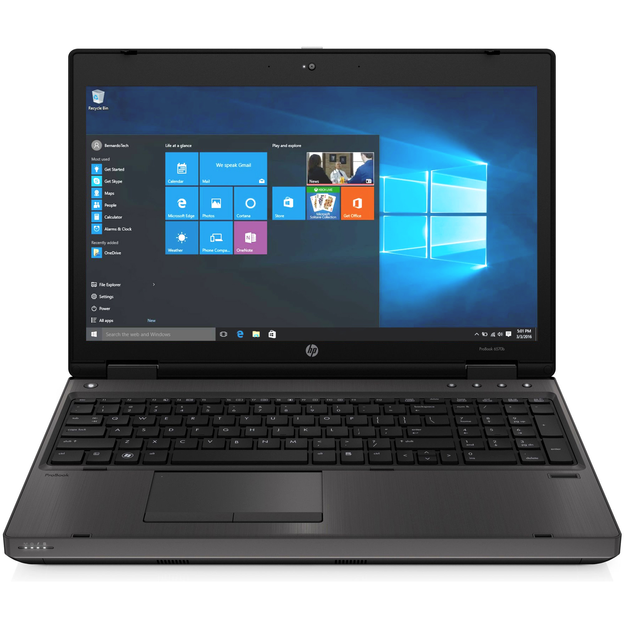 Laptop HP 6570b, Intel Core i5-3210M 2.50GHz, 4GB DDR3, 240GB SSD, DVD-RW, 15.6 Inch, Webcam, Tastatura Numerica, Grad B (0313)