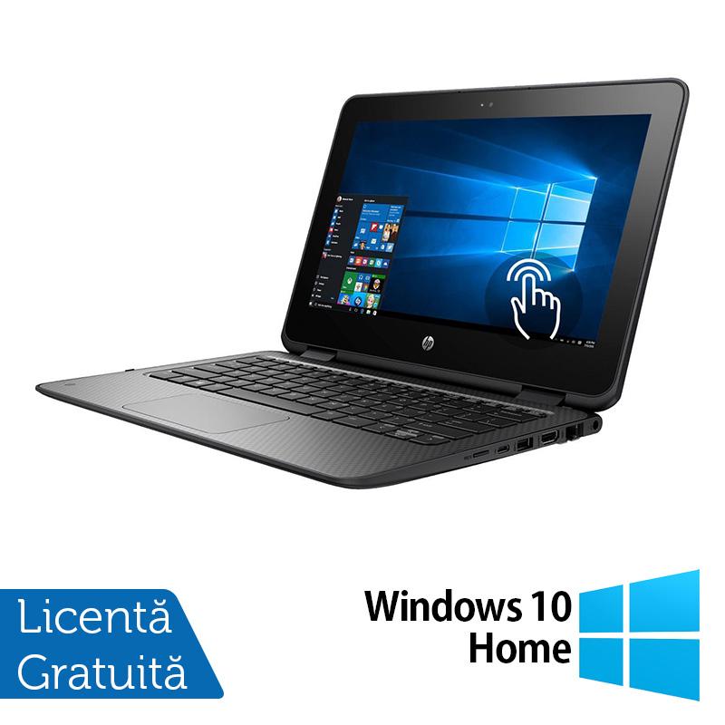 Laptop HP ProBook x360 11 G1, Intel Celeron N3350 1.10GHz, 4GB DDR3, 120GB SSD, TouchScreen, Webcam, 11 Inch + Windows 10 Home