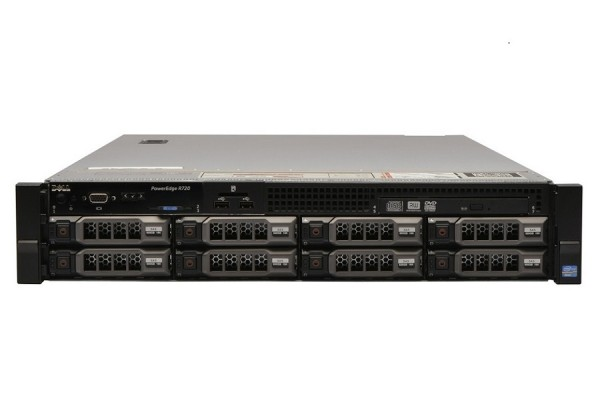 Server Dell PowerEdge R720, 2x Intel Xeon Deca Core E5-2650L V2, 1.70GHz – 2.10GHz, 128GB DDR3 ECC, 2 x HDD 1.2TB SAS/10K + 4x 4TB HDD SATA, Raid Perc H710 mini, Idrac 7 Enterprise, 2 surse HS