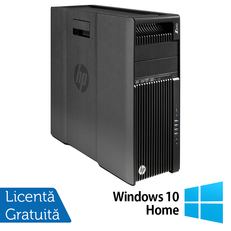 Workstation HP Z640, 1 x CPU Intel Xeon Hexa Core E5-1650 V3 3.50GHz-3.80GHz, 32GB DDR4 ECC, 240GB SSD + 3TB HDD, nVidia Quadro K2200/4GB GDDR5, DVD-RW + Windows 10 Home