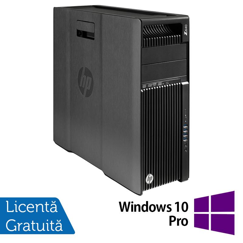 Workstation HP Z640, 1 x CPU Intel Xeon Hexa Core E5-1650 V3 3.50GHz-3.80GHz, 32GB DDR4 ECC, 240GB SSD + 3TB HDD, nVidia Quadro K2200/4GB GDDR5, DVD-RW + Windows 10 Pro