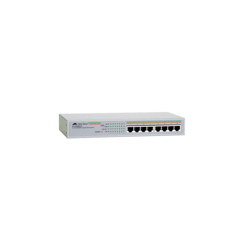 switch allied telesis at-gs900, 8 porturi gigabit