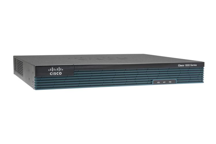 Router Cisco 1921/K9 cu 2 onboard GE, 2 EHWIC slots, 256MB USB Flash (internal) 512MB DRAM