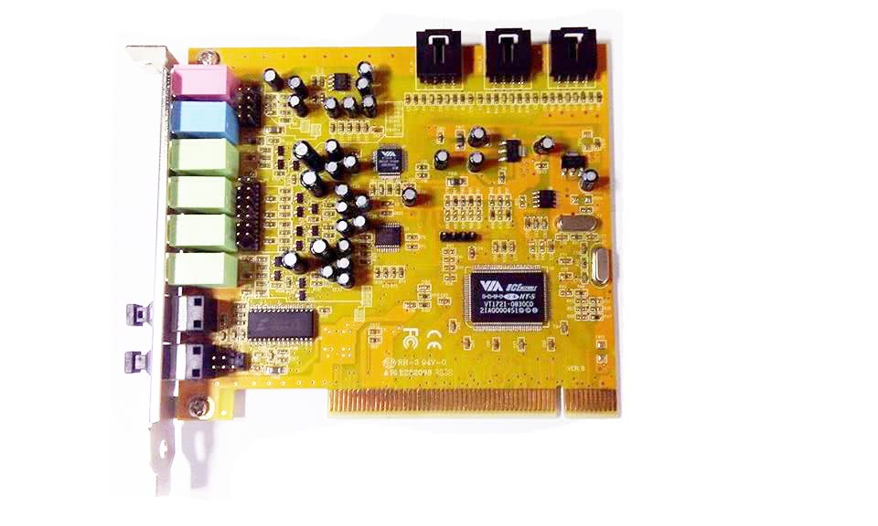 sound blaster via, model number vt1721-0830cd, slot pci