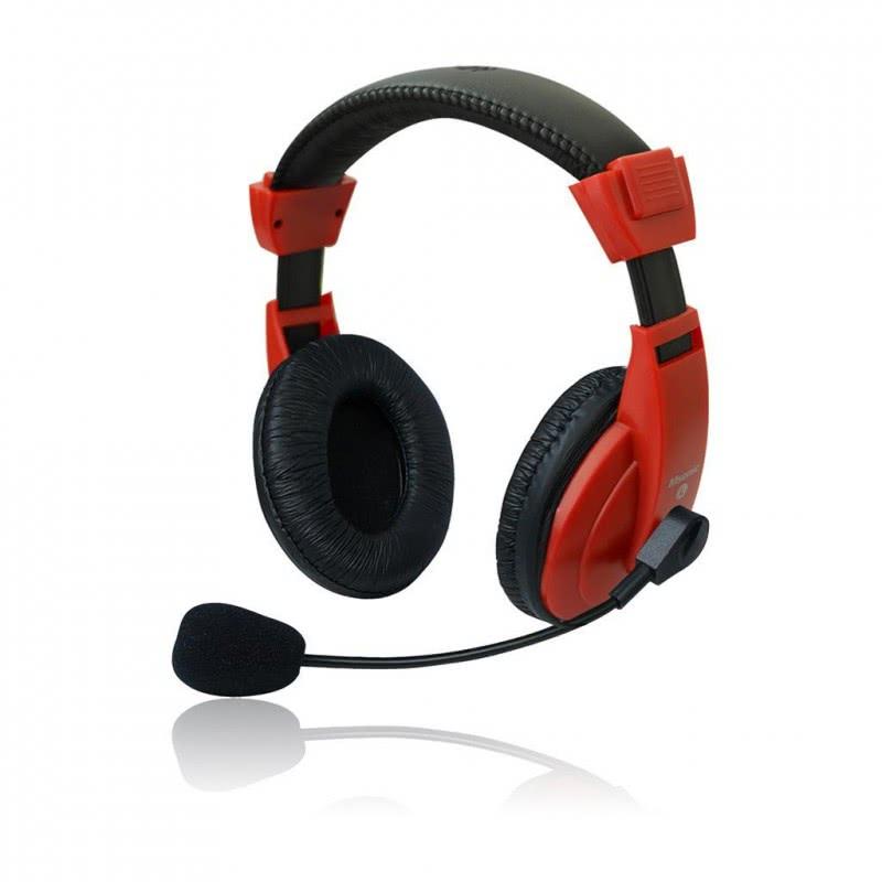 Set MSONIC casti microfon stereo, Rosu