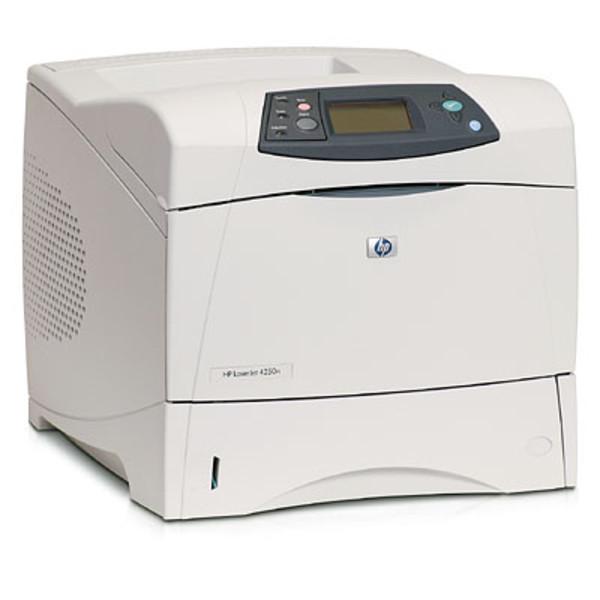 imprimanta secod hand hp laserjet 4250dn, laser, monocrom, 45ppm, retea, usb, duplex