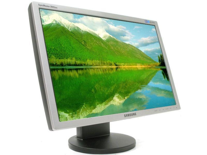 Monitor Samsung SyncMaster 2043BW, 20 Inch LCD, 1680 x 1050, VGA, DVI, Fara picior