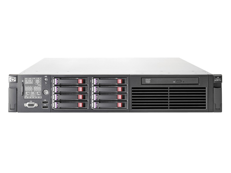 Server HP ProLiant DL380 G6, 1x Intel Xeon Quad Core E5520 2.26Ghz, 32Gb DDR3 ECC, 2x 146Gb SAS, DVD-ROM, RAID P410i, 1 x 750W HS