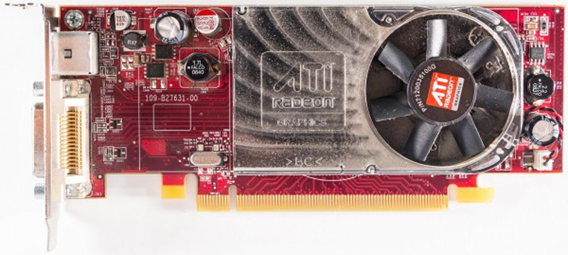 placa video pci-e ati radeon hd 2400 xt, 256 mb, dms-59, tv-out, low profile design