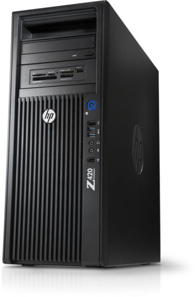 workstation hp z420, cpu intel xeon e5-1650 v2 3.50ghz-3.90ghz hexa core, 64gb ddr3 ecc, ssd 240gb + 2tb hdd + 2tb hdd, nvidia quadro 4000/2gb gddr5 256biti