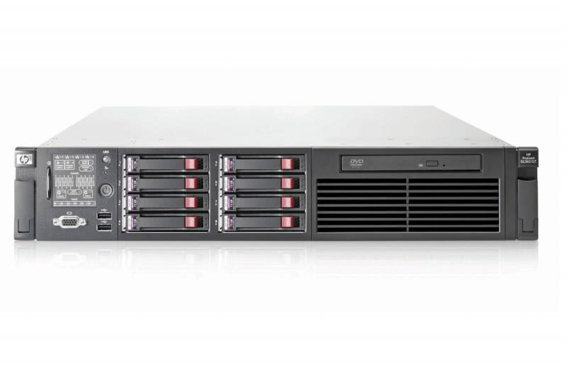 server hp proliant dl380 g7, 2x intel xeon hexa core e5649 2.53ghz-2.93ghz, 72gb ddr3 ecc, 2x 600gb sas/10k, raid p410i, 2x sursa 750w