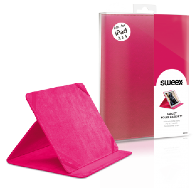 Husa Tableta SWEEX SA344 9.7 inch (Apple iPAD 2/3/4 AIR), Roz