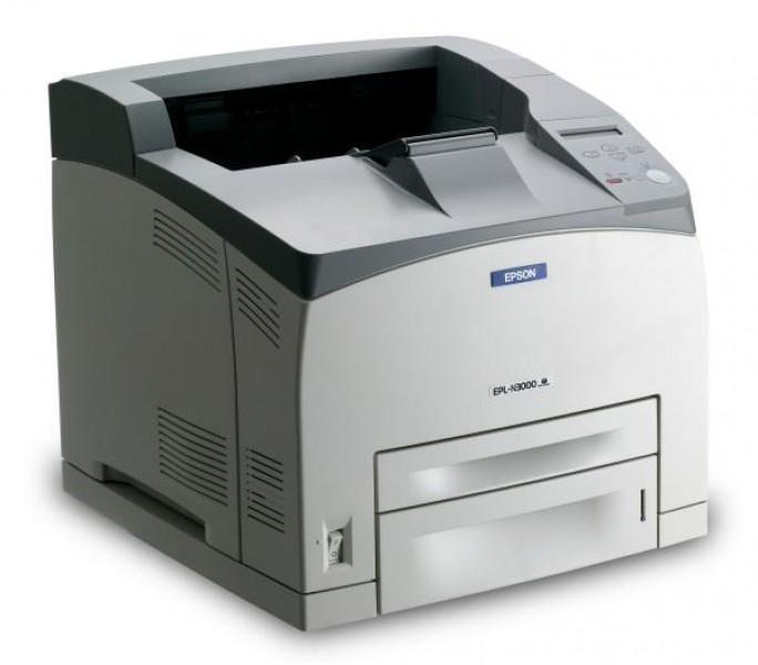 imprimanta second hand epson epl-n3000, 34 ppm, 600 x 600 dpi, retea, usb, parallel, a4, monocrom