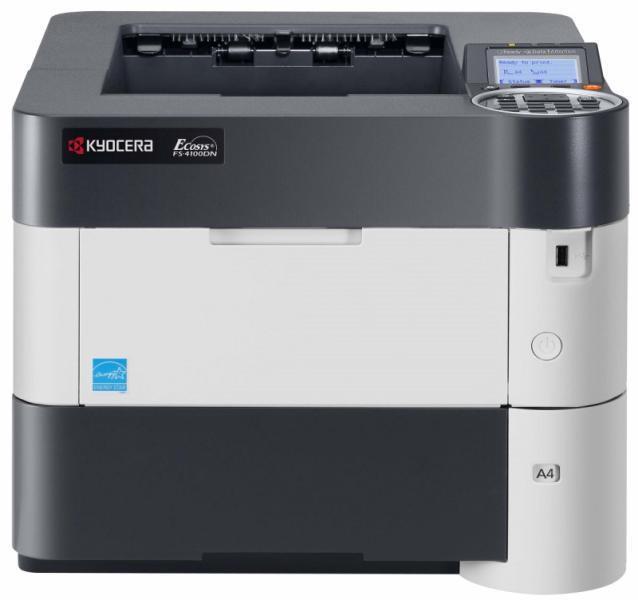Imprimanta KYOCERA FS-4100DN, 45 PPM, Duplex, Retea, USB, 1200 x 1200, Laser, Monocrom, A4