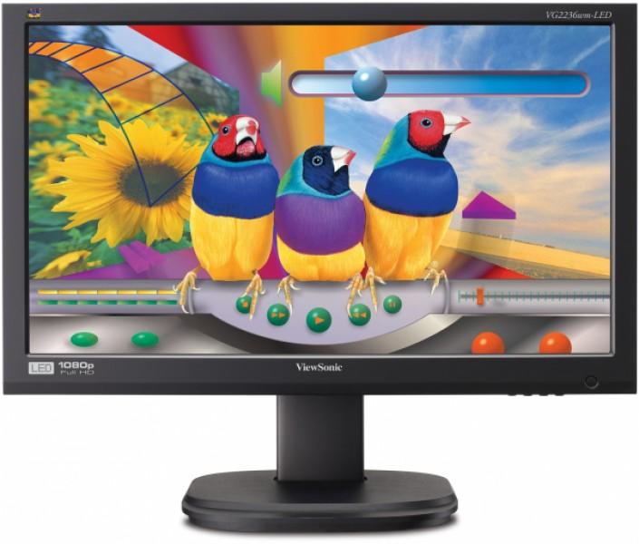 Monitor VIEWSONIC VG2236WM, 22 Inch LED, 1920 x 1080, VGA, DVI, Fara Picior, Grad A-