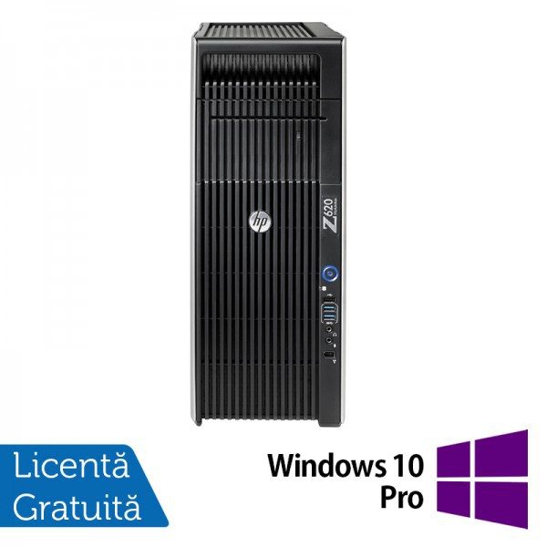 Workstation Refurbished HP Z620, 2x Intel Xeon DECA Core E5-2680 V2 2.8GHz-3.6GHz, 64GB DDR3 ECC, 512GB SSD NOU + 2TB HDD SATA, nVidia Quadro K2200/4GB GDDR5 + Windows 10 Pro